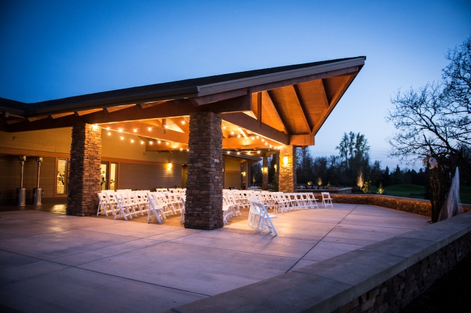 covered outdoor evening ceremony