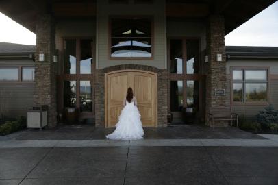 bride doors entrance
