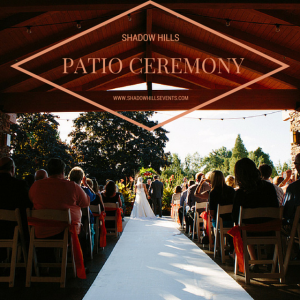 covered patio wedding