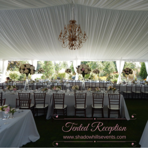tented garden reception