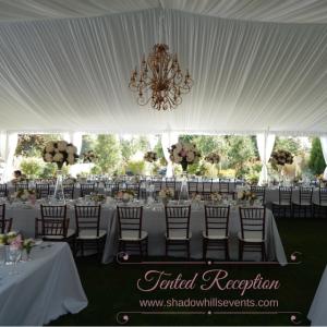 tented garden reception